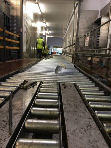 Roller Conveyor for Food Distribution