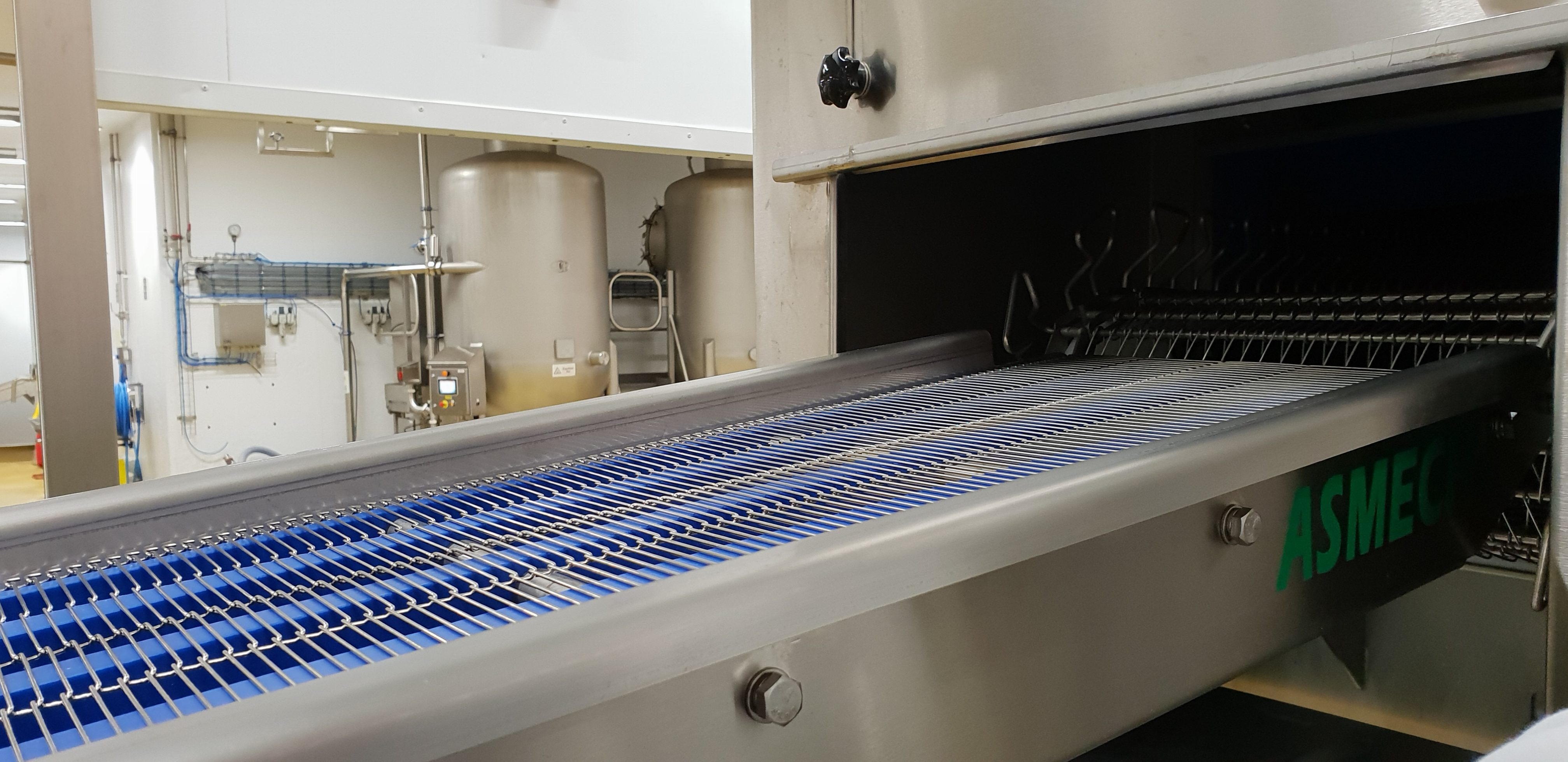 Wire Belt Conveyor for Food Manufacturer
